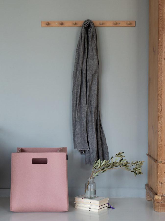 Box rose feutrine