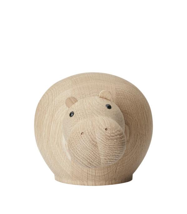hippopotames en bois