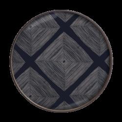 plateau en verre Ethnicraft Ink Linear Squares