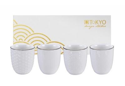 Set de 4 tasses à Thé Nippon White