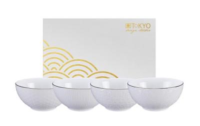4 bols Nippon White Tokyo Design