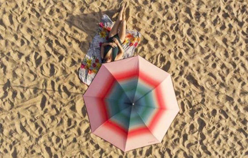 Parasol de plage pastèque