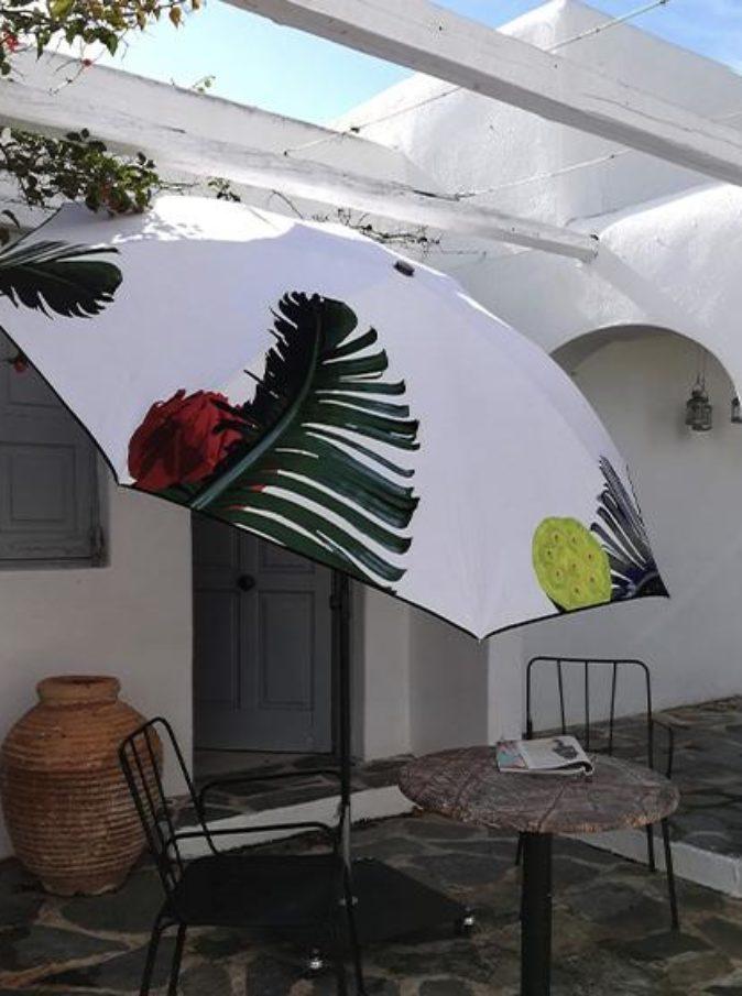 Parasol de terrasse botanica