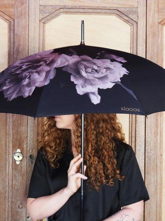 Parapluie Pivoine Noire Klaoos