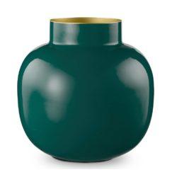 Vase Dark green rond